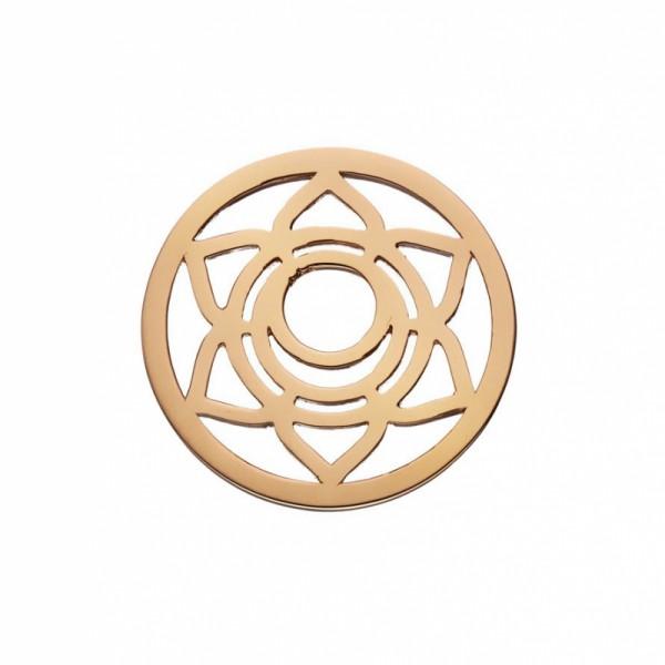 Daisy London Halo Coin Sakralchakra Silber 18kt rosé vergoldet