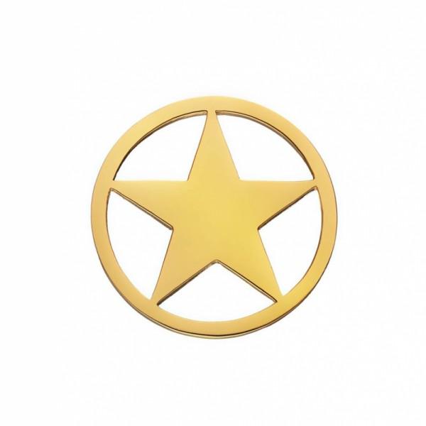 Daisy London Halo Coin Stern Silber 18kt vergoldet
