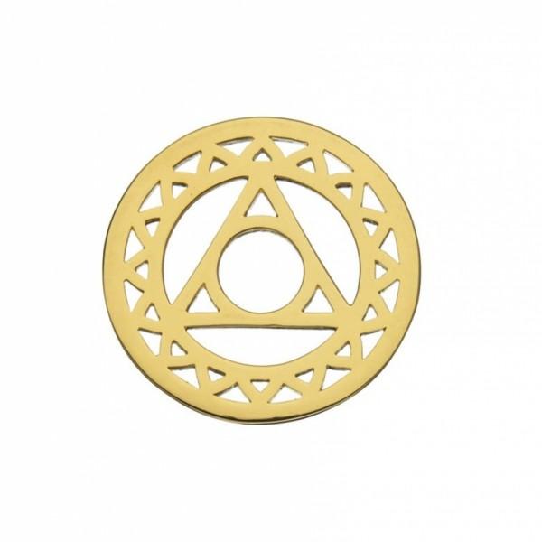 Daisy London Halo Coin Halschakra Silber 18kt vergoldet