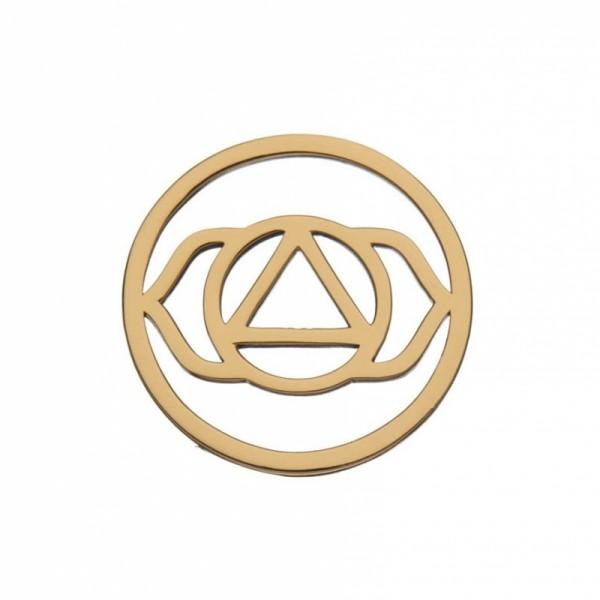 Daisy London Halo Coin Stirnchakra Silber 18kt rosévergoldet