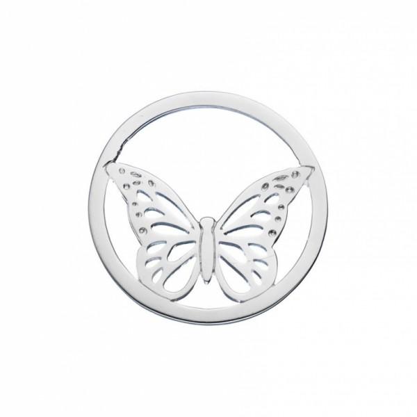 Daisy London Halo Coin Schmetterling Silber