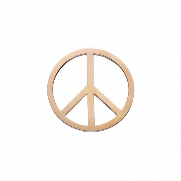 Daisy London Halo Coin Peace Silber 18kt rosé vergoldet