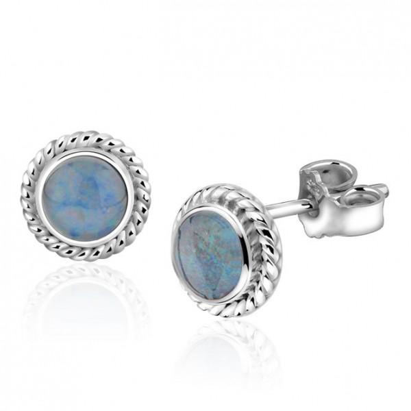 10 Oktober Geburtsstein: Opal Triplette in Ohrstecker 925/-